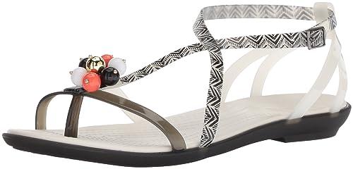 c427a059db57 Crocs Womens Drew Barrymore Isabella Gladiator Sandal Flat Sandal ...
