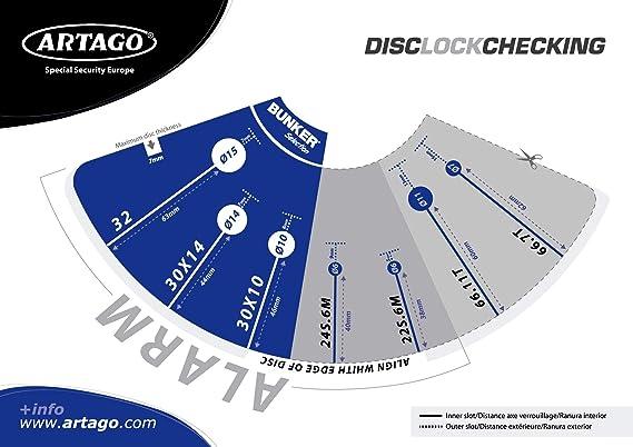 Amazon.com: artago 30x10 Disco antirrobo con alarma de alta ...