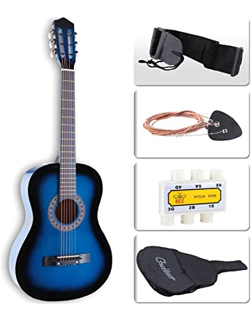 LAGRIMA Acoustic Guitar Beginners with Guitar Case, Strap, Tuner & Pick Steel Strings (