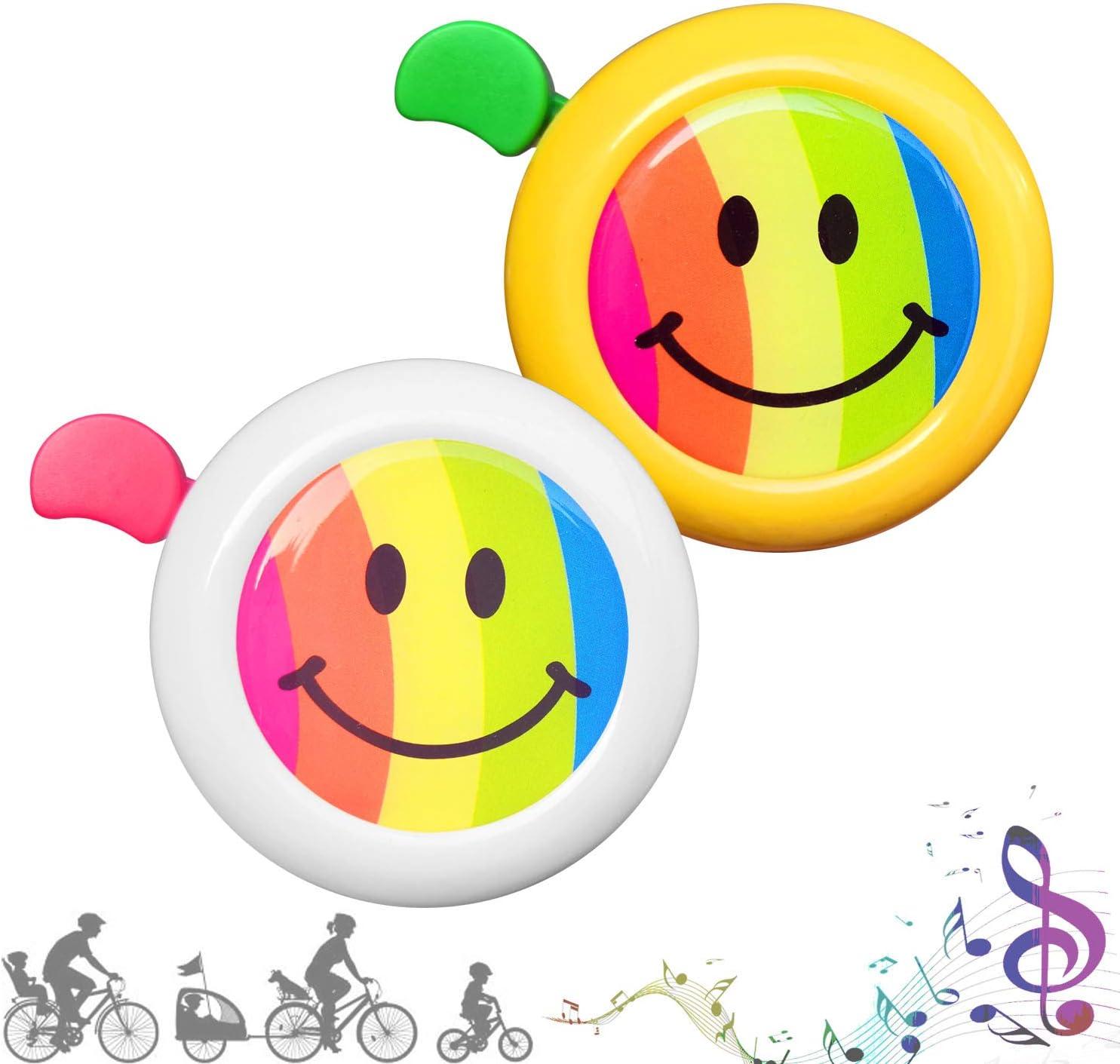 CUKCIC Timbres para Ciclismo Campana para Bicicletas para Infantiles Kid Niño Niña (Blanco-Rojo; Amarillo-Verde): Amazon.es: Deportes y aire libre