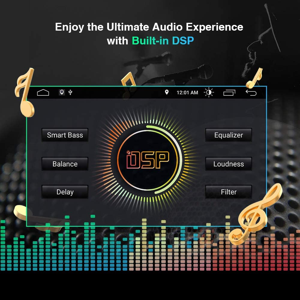 """XTRONS Android 10 Car Stereo with 9/"""" IPS Screen GPS Navigation Radio Built-in DSP Support Full RCA Output CarAutoPlay TPMS OBD WiFi for Jeep Renegade 2015-2020"""