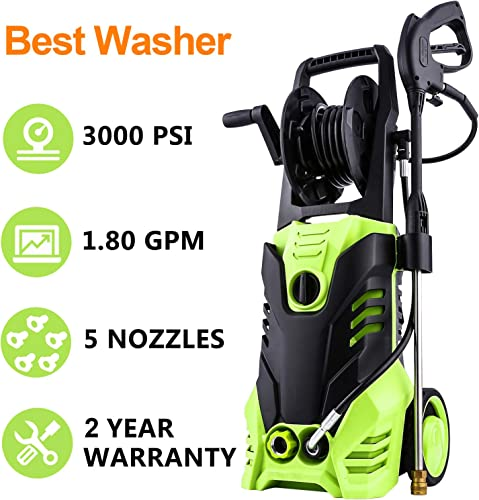 Homdox Power Washer 3000 PSI Electric Pressure Washer 1.80 GPM High Pressure Washer