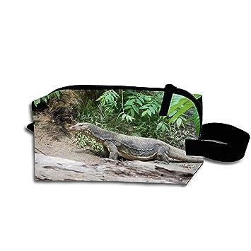 b17ae0ba3f1b Amazon.com : Lizard Travel Cosmetic Bag Portable Makeup Pouch Pencil ...