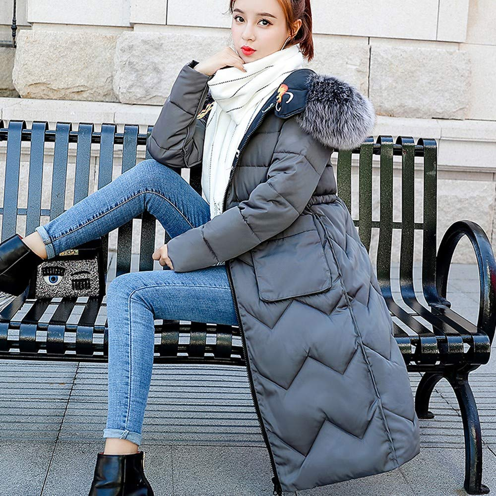 NUWFOR Womens Trim Hooded Warm Coats Parkas with Faux Fur Jackets for Winter(Gray,3XL) by NUWFOR (Image #6)