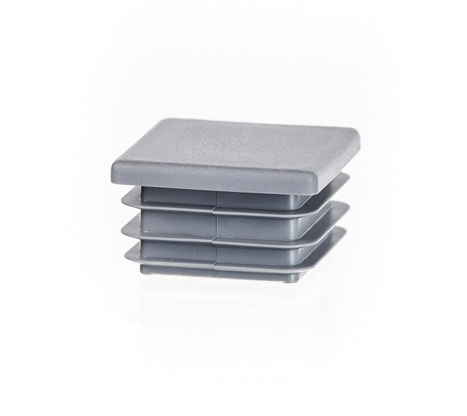 10 pcs. Square end Cap 70x70 mm (2 3/4 x 2 3/4 inch) Grey Plastic end caps Plugs EMFA