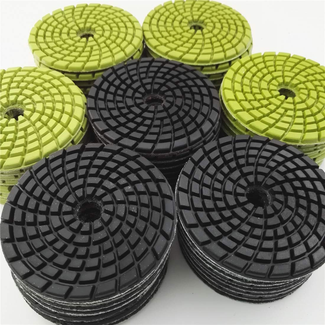 DIATOOL Diamond Concrete Polishing Pads 4inch Resin Bond Renew Pads Beton Floor Renew Reparing Disk Mixed Grits Pack of 12