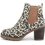 best-boots Damen Plateau Stiefelette Chelsea Boots