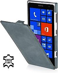 StilGut, UltraSlim, pochette exclusive de cuir véritable pour le Nokia Lumia 1020, old style gris