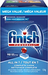 Finish Dishwasher Detergent, All in 1 Powerball, Fresh, Mega Value Pack, 110 Tablets, Fast Action Clean