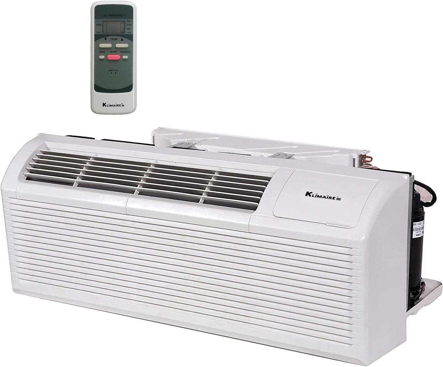 KLIMAIRE PTAC 15000 Btu 10.6 EER Air Conditioner with 3.5kW Electric Heater 208-230V