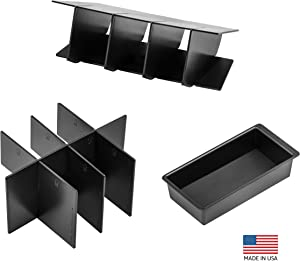 Vehicle OCD - Center Console Divider, Tray, and Glove Box Organizer Compatible with Toyota Tacoma (2005-2015) - Made in USA
