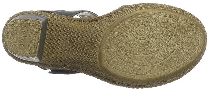 Rieker Damen 66561 Sandalen mit Absatz  Amazon.de  Schuhe   Handtaschen 2c52fbb3dd
