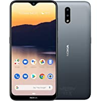 """Nokia 2.3 Android One Smartphone (Official Australian Version) Unlocked Mobile Phone with 2-Day Battery, AI Dual-Cameras, Vibrant 6.2"""" HD+ Screen, Face Unlock, 3 Years of Security, 32GB, Charcoal"""