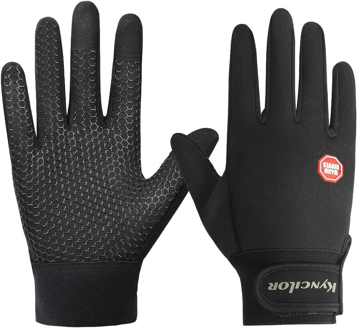 Mens Winter Warm Windproof Waterproof Fleece Lined Thermal Touch Screen Gloves