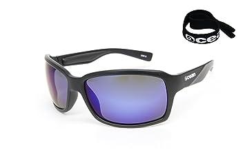 Ocean Sunglasses Venezia - gafas de sol polarizadas - Montura : Negro Brillante - Lentes : Azul Espejo (3101.1 A): Amazon.es: Deportes y aire libre