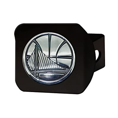 "FANMATS 21023 NBA - Golden State Warriors Black Hitch Cover, Team Color, 3.4""x4"": Automotive"