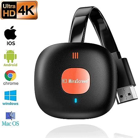 Dongle de Pantalla inalámbrico WiFi para TV,4K Chromecast ...