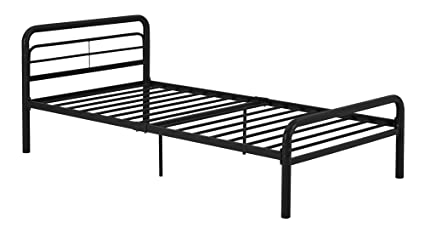 modern twin bed. DHP Metal Bed With Round Tubing, Modern And Simple Design, Twin, Black Modern Twin Bed