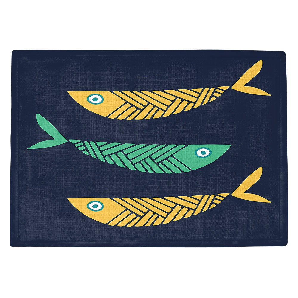 DIANOCHEキッチンPlaceマットby Artist Kim Hubball – 魚Nursery Set of 4 Placemats PM-KimHubballFishNursery2 Set of 4 Placemats  B01MTKGT1S