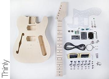 DIY Kit de Guitarra Eléctrica Tele Guitarra construir su propio estilo Thinline - Kit: Amazon.es: Instrumentos musicales