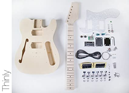 DIY Kit de Guitarra Eléctrica Tele Guitarra construir su propio estilo Thinline – Kit