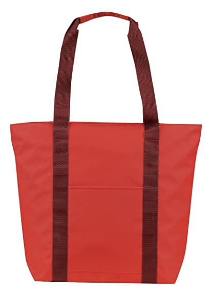 Amazon.com  Large Over the Shoulder Tote with Zipper (Red Burgundy)  Shoes 219b163ea89b