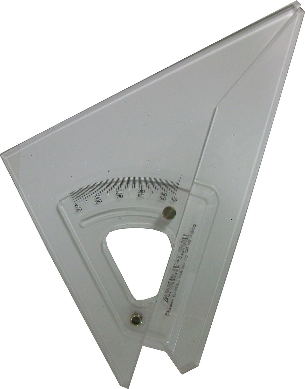 30,5/cm verstellbar Acryl Blundell Harling Geo-Dreieck 3/m