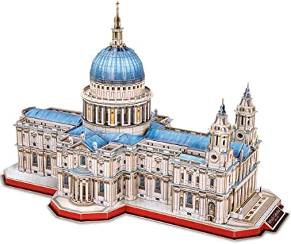 CubicFun Puzzle 3D Londres St.Pauls Cathedral Rompecabezas 3D Arquitectura Iglesia Reino Unido Modelo de Construcción Kits para Adultos Regalos, Catedral de San Pablo 643 Piezas: Amazon.es: Juguetes y juegos