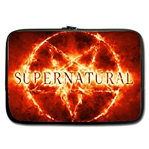 INSTALL AND EASY TO CARRY Wear& Slim &Dapper Supernatural Custom Neoprene Sleeve for Laptop 15 Inches(Twin sides)