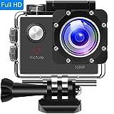 Victure アクションカメラ 1200万画素 1080P フルHD 170度広角 1050mAh電池 30M防水 複数部品