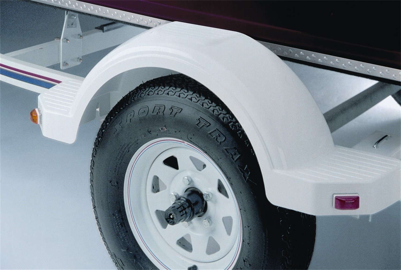 14-Inch Tire Size Silver #008564 Fulton Trailer Fenders Plastic Fender