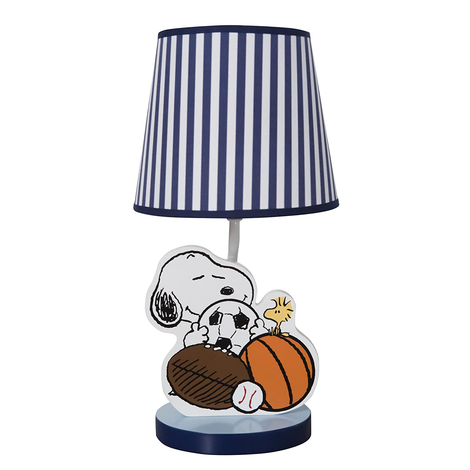 Bedtime Originals Snoopy Sports Lamp with Shade and Bulb Lambs & Ivy 252024B