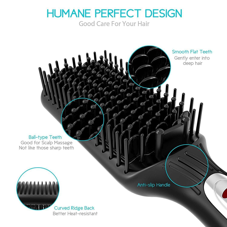 Cepillo alisador de cabello digital para desenredar y alisar el ...