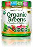 Purely Inspired Organic Greens, USDA Organic, Super Greens Powder, Unflavored, 7.17 oz, 20 servings