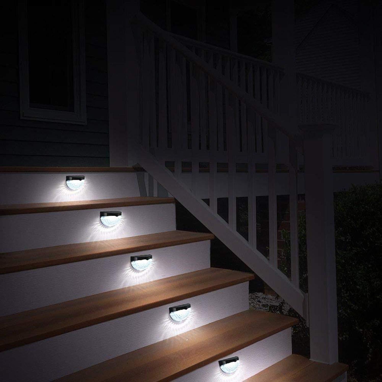 Mandii LED Solar Wall Light Fence Light Solar Light Outdoor Waterproof Garden Step Lights by Mandii (Image #2)
