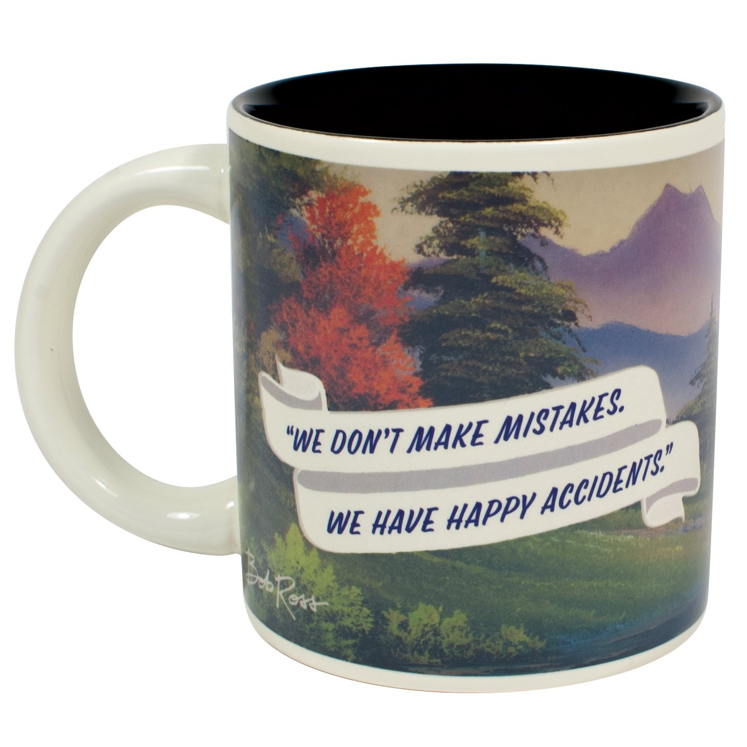 Bob Ross Heat Changing Mug - Add Coffee or Tea and a Happy Little Scene Appears - Comes in a Fun Gift Box by The Unemployed Philosophers Guild (Image #4)