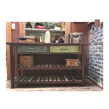 Admirable Amazon Com Rustic Entryway Table With Drawers Sofa Storage Ibusinesslaw Wood Chair Design Ideas Ibusinesslaworg