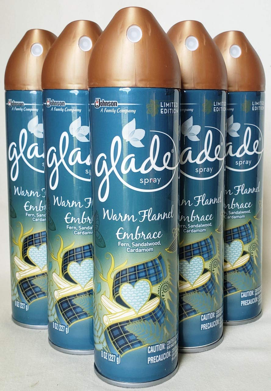 FOR SALE 5 BRAND NEW GLADE WARM FLANNEL EMBRACE LIMITED EDITION 8oz SPRAYS by Glade