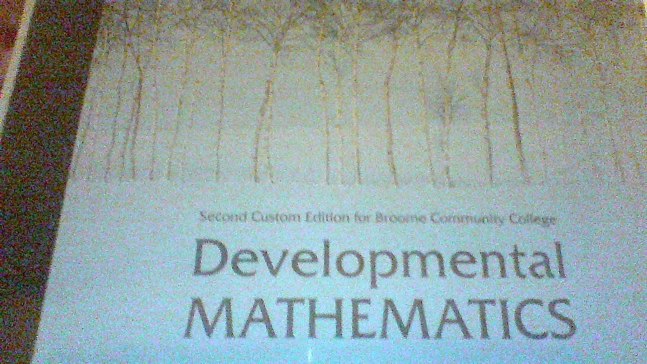 Download Developmental Mathematics (Second Custom Edition for Broome Community College) pdf