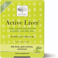 New Nordic Active Liver, 30 Tablets Daily Liver Detoxifier and Regenerator with Milk Thistle Extract, Artichoke Extract…