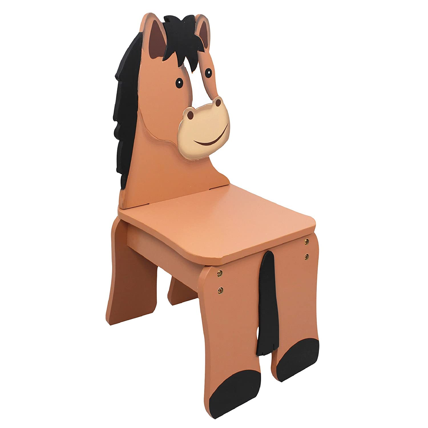 Superb Amazon.com: Fantasy Fields   Happy Farm Animals Thematic Kids Wooden Horse  Chair | Imagination Inspiring Hand Crafted U0026 Hand Painted Details |  Non Toxic, ...