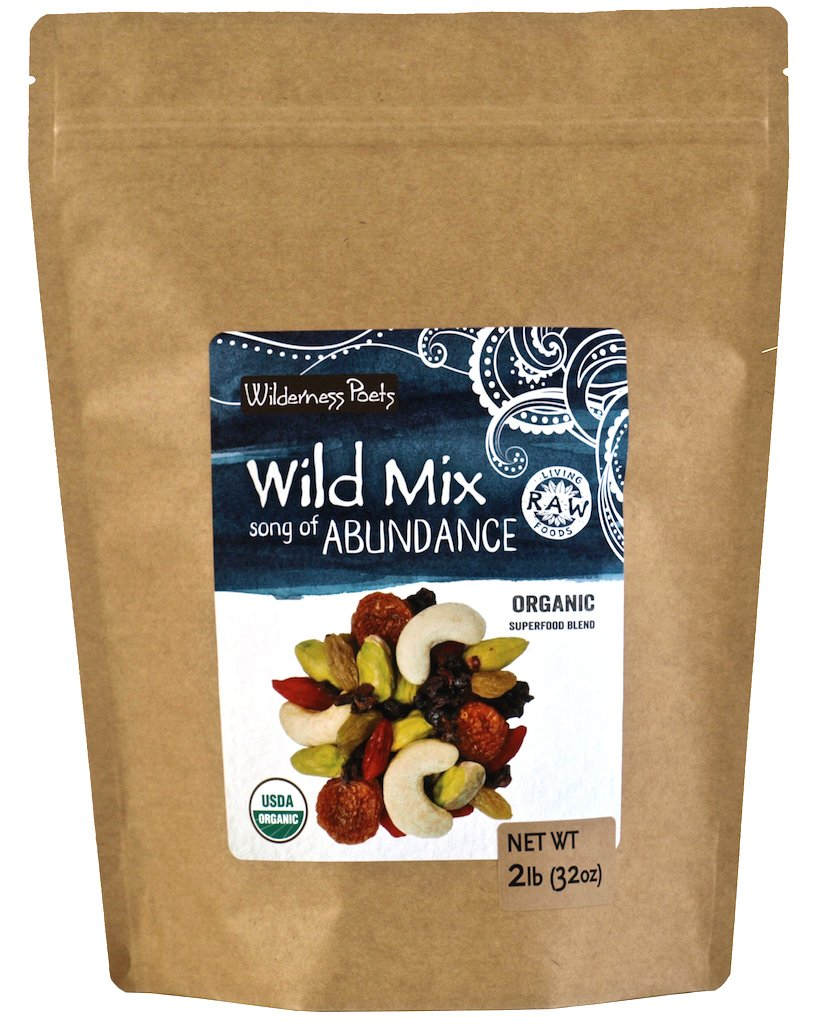 Wilderness Poets, Song of Abundance Wild Mix - Organic Raw Superfood Blend, 2 Pound (32 Ounce)