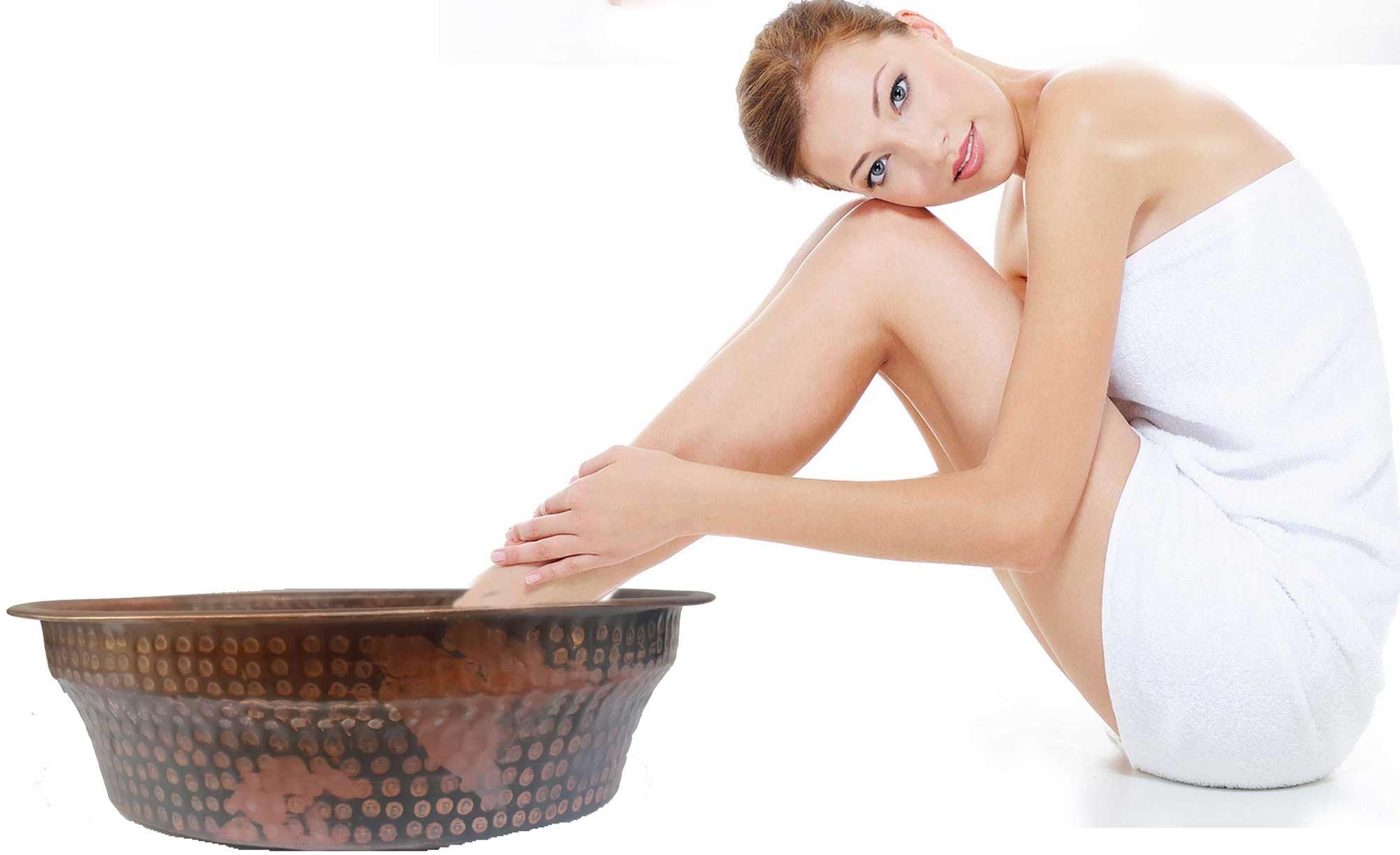 Egypt gift shops HANDMADE Rubbing Foot Bath Massage Therapy therapeutic Toenails Remedy Legs fatigue healing Pedicure Soaking Spa Bowl