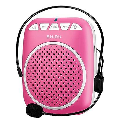 Zoweetek - Amplificador de voz portátil, altavoz con Microauricular y pilas recargables para
