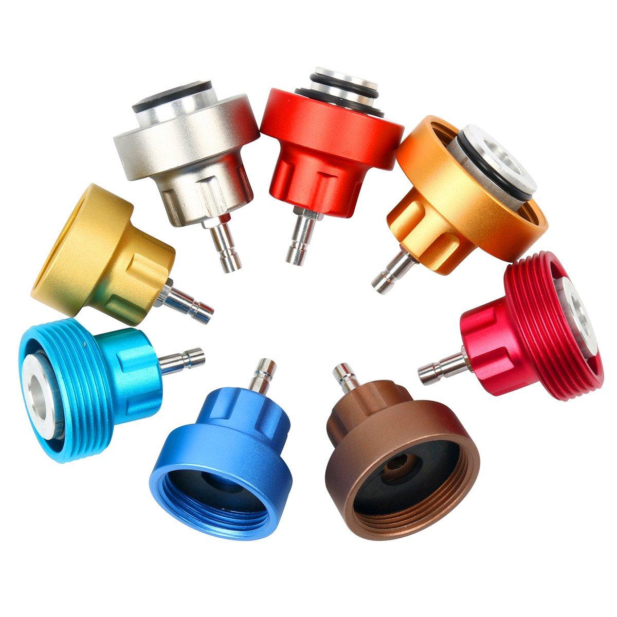 8MILELAKE 14pc Radiator Pump Pressure Leak Tester Kit Vacuum Pressure Cooling System Tester by 8MILELAKE (Image #2)