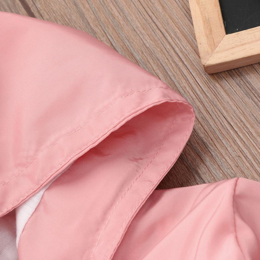 WARMSHOP Kids Girls Solid Color Hoodie Zipper Tops Long Sleeve Warm Winter Casual Jacket Coat