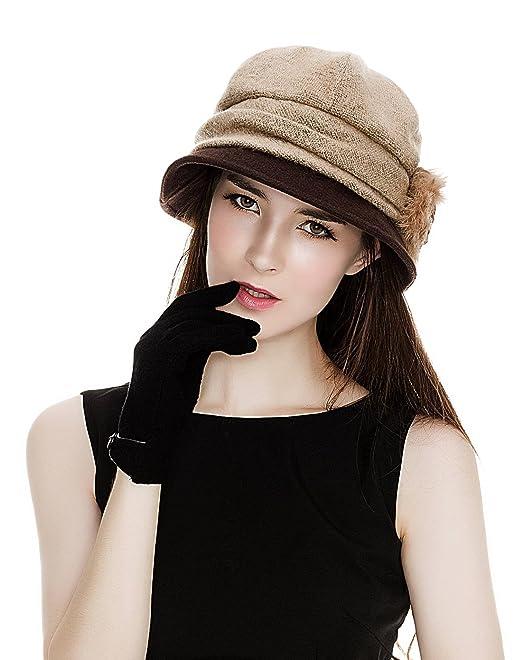 9f62a06dd Siggi Cloche Round Hat for Women 1920s Fedora Bucket Vintage Hat Flower  Accent