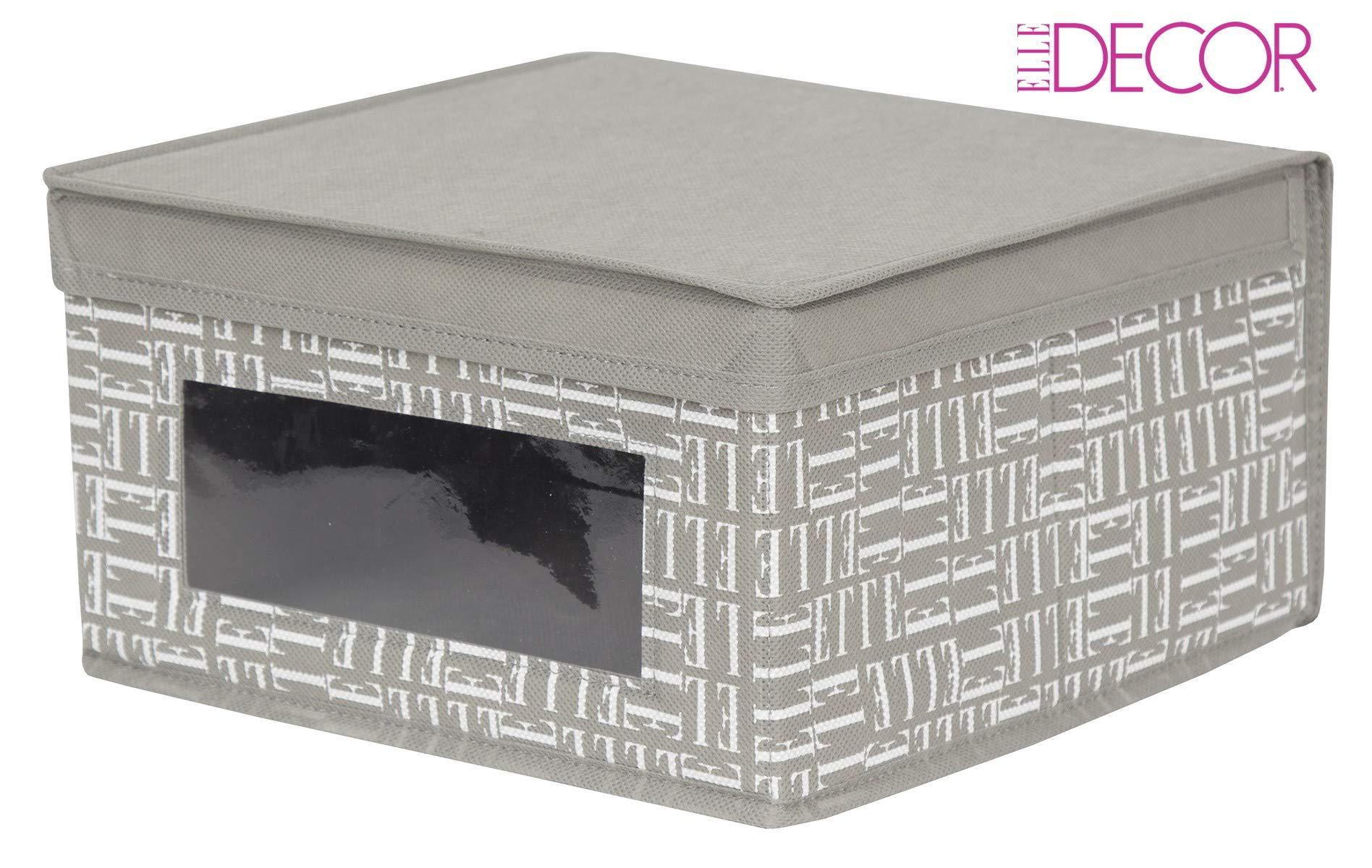 Elle Decor Window Storage Box Lid Durable Bin Basket Container Clothes Nursery Toy Organizer Seasonal