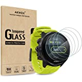 (Pack of 4) Tempered Glass Screen Protector for Suunto 9, Akwox [0.3mm 2.5D High Definition 9H] Premium Clear Screen Protecto