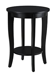 Convenience Concepts American Heritage Round Table, Black Finish